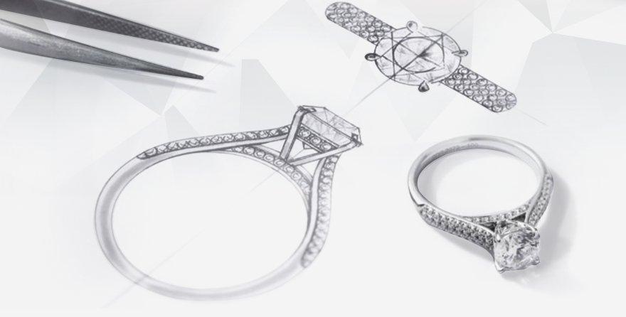 custom design engagement ring Most popular Cara